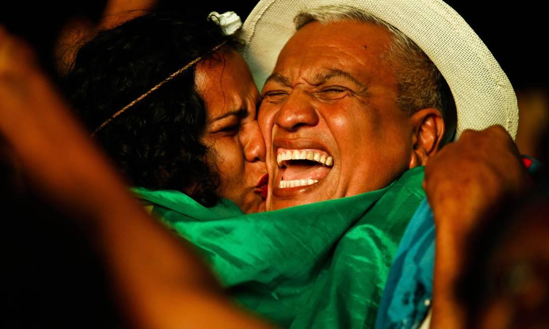 Na vitória, choro e emoção pela conquista inédito na Casa da Alemanha, no Leblon Guilherme Leporace / O Globo