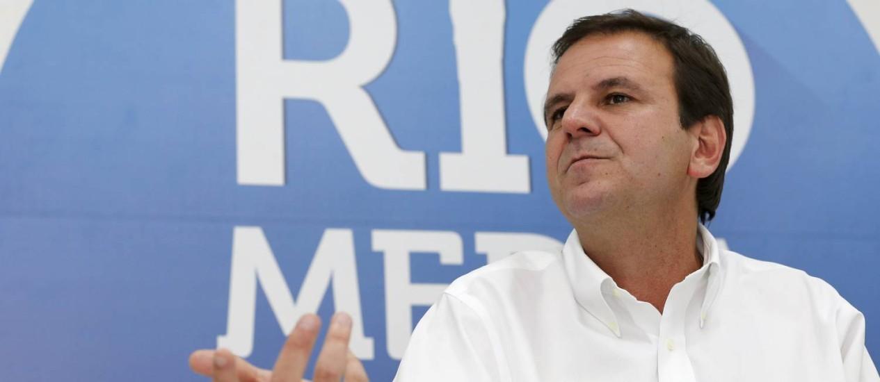 O prefeito do Rio, Eduardo Paes Foto: Agência O Globo