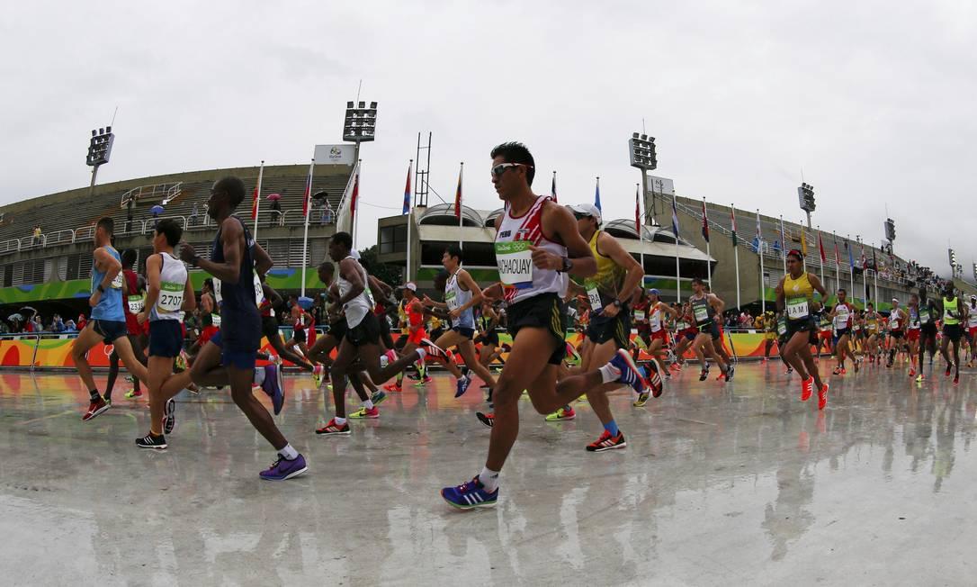 Os representantes brasileiros na prova são Marilson dos Santos, Solonei da Silva e Paulo Roberto Paula ATHIT PERAWONGMETHA / REUTERS