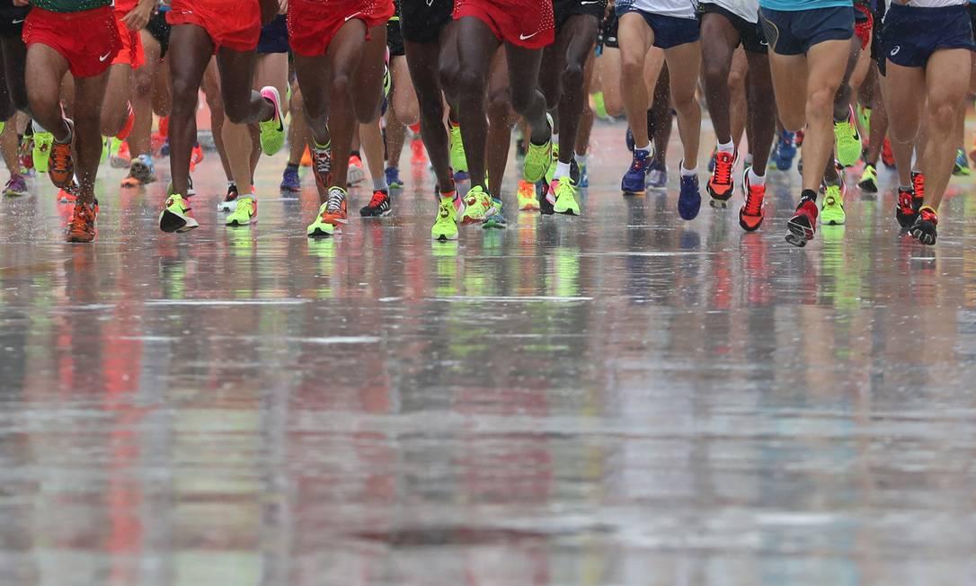 A prova é a última do atletismo nos jogos do Rio-2016 Petr David Josek / AP