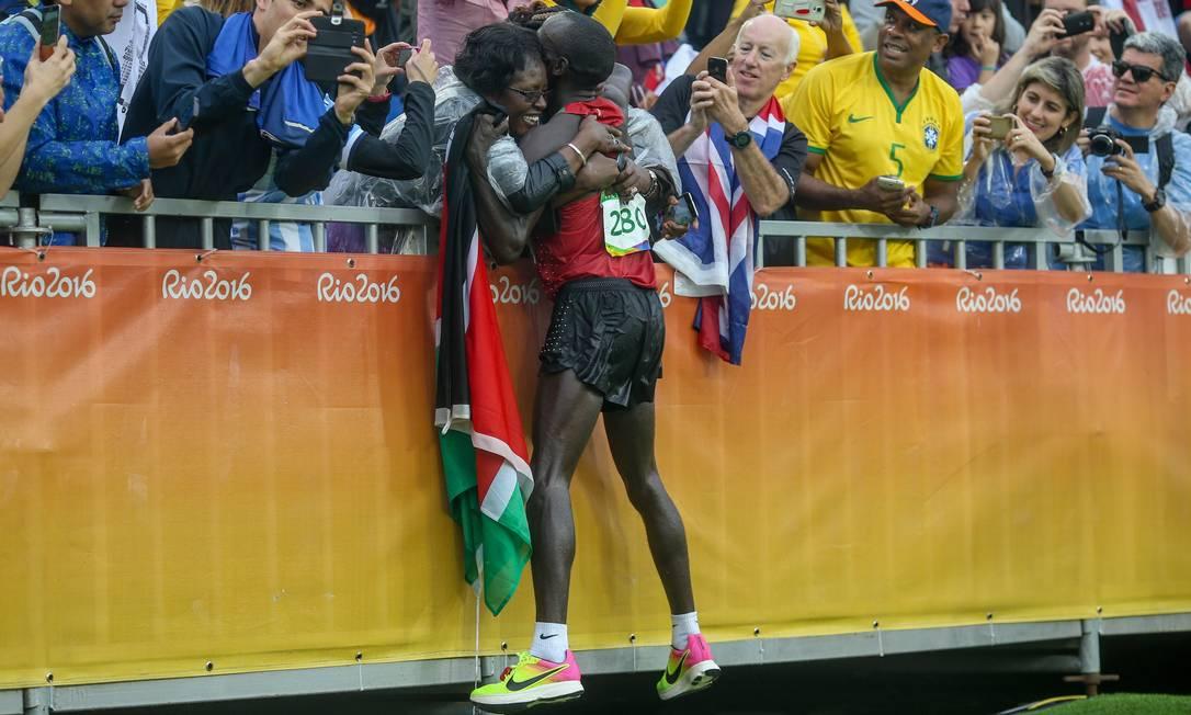 Eliud Kipchoge, do Quênia, vencedor da Maratona Olimpica Agência O Globo