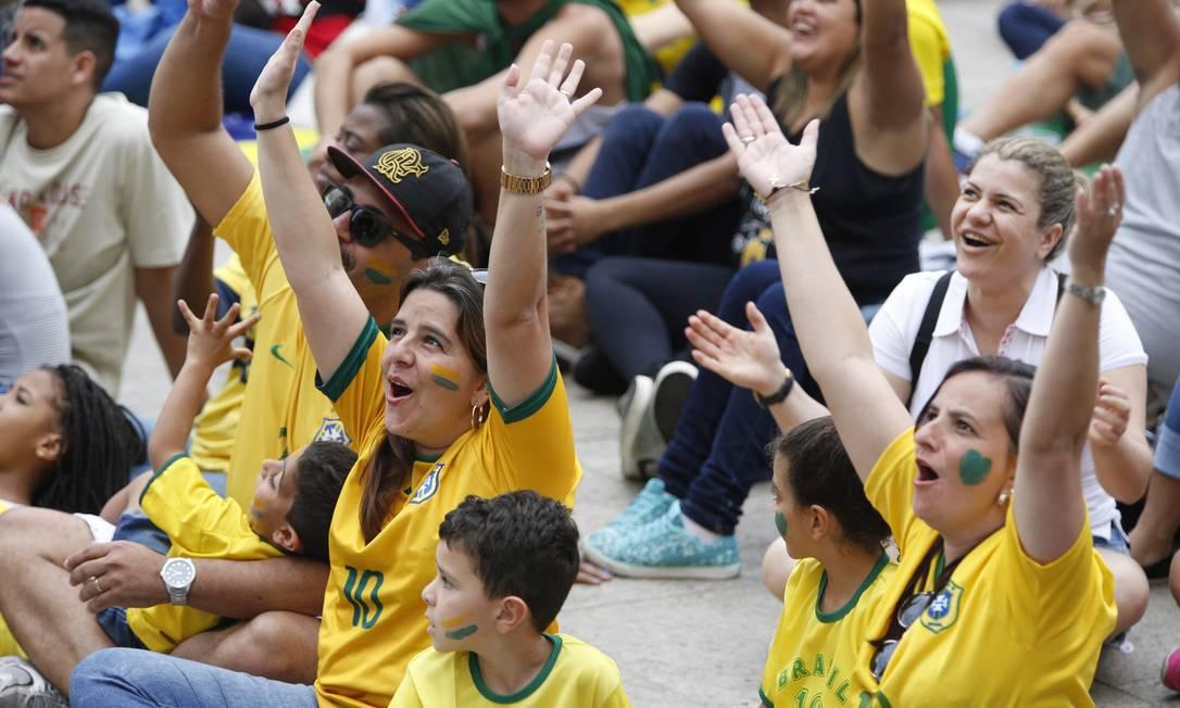 O Boulevard ficou lotado durante a final do vôlei masculino Agência O Globo