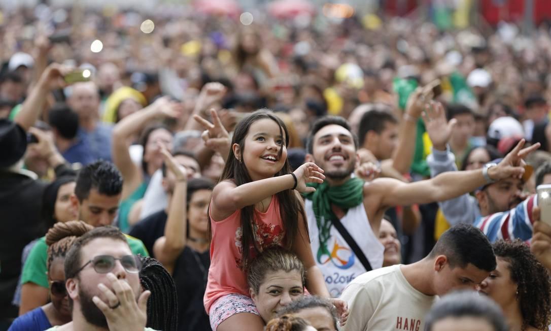 Não faltou empolgação da torcida Agência O Globo