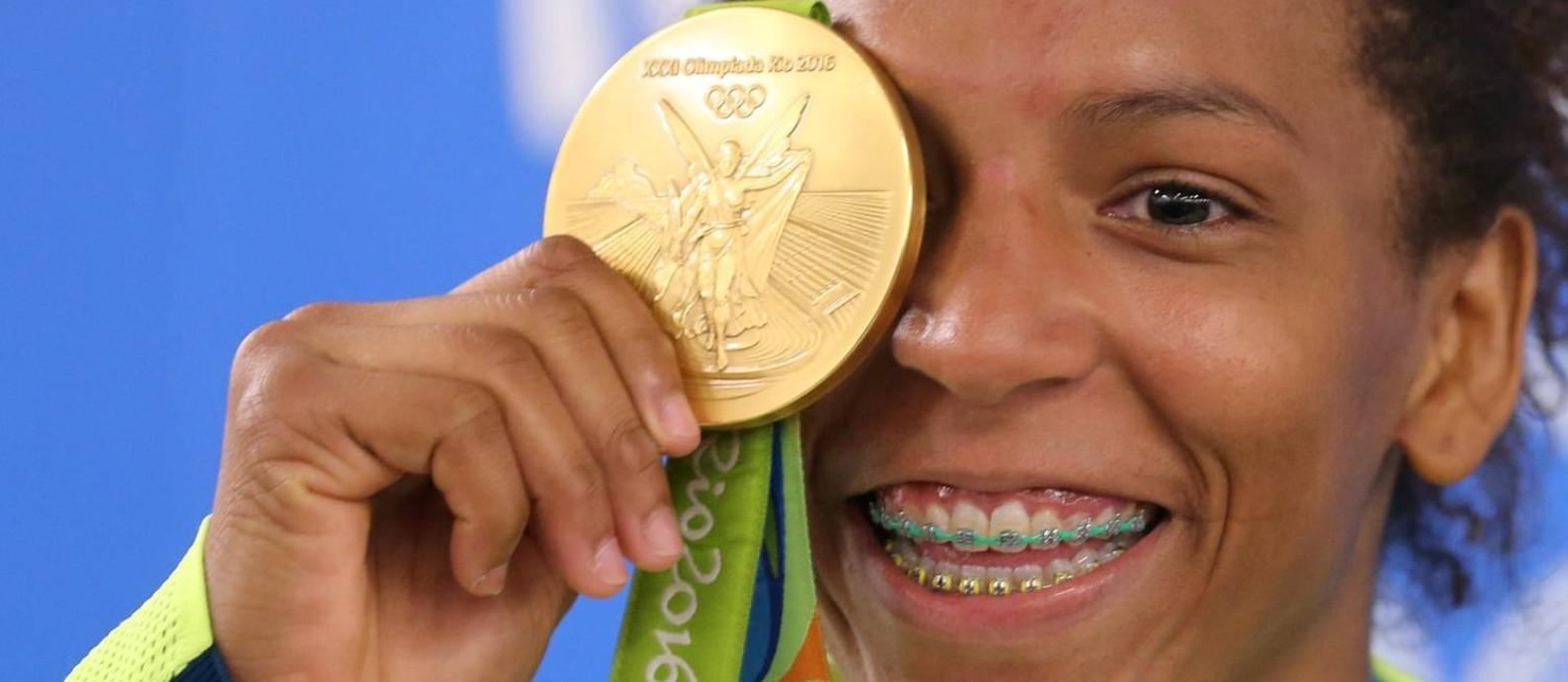Ouro de Rafaela Silva inspira novas gerações Foto: Marcelo Theobald/Agência O Globo