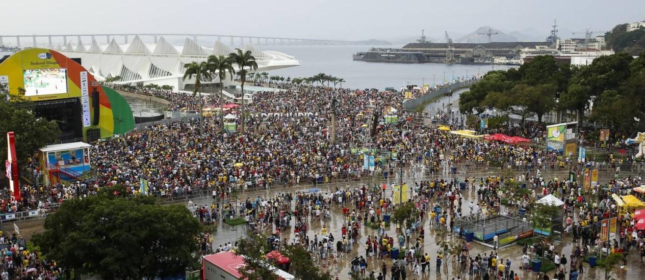 Boulevard Olímpico na Praça Mauá foi um dos sucessos da Olimpíada Foto: Agência O Globo