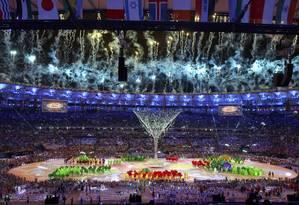 Cerimônia de encerramento da Olimpíada do Rio Foto: Leonhard Foeger / Reuters