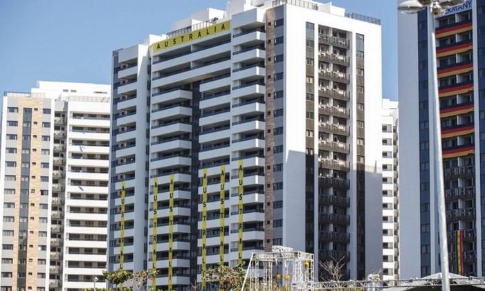 O problemático prédio da Austrália na Vila Olímpica Foto: Daniel Marenco / Agência O Globo