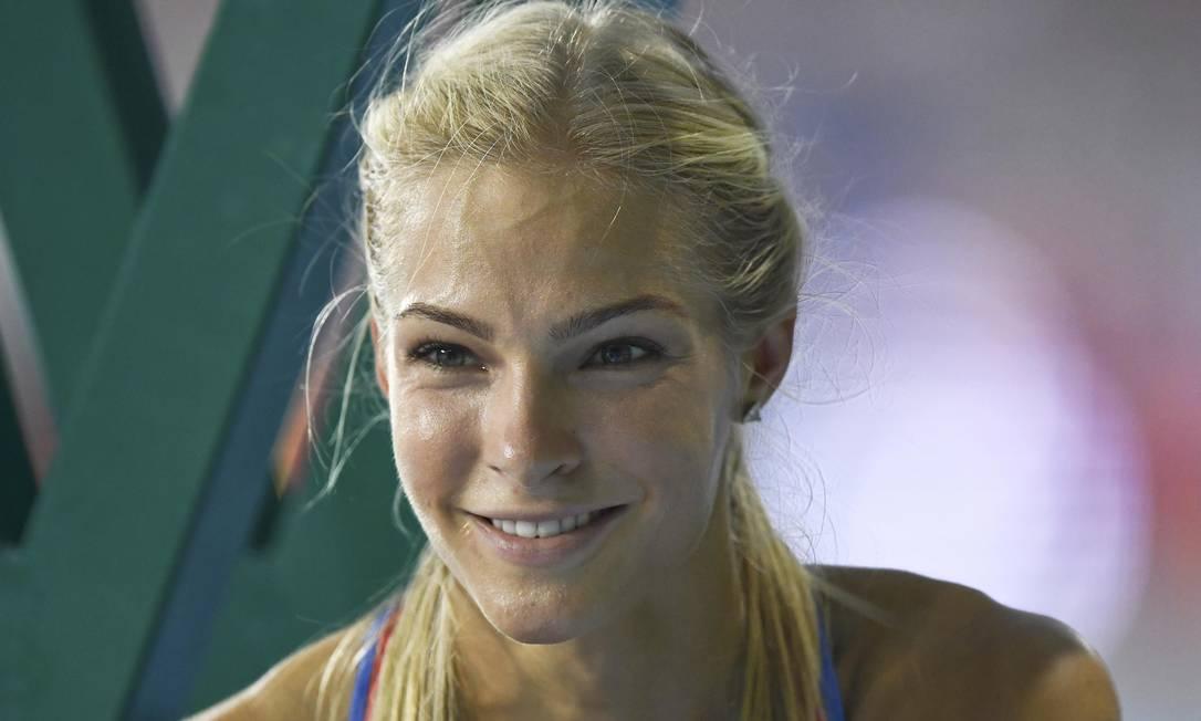 Darya Klishina, única russa com permissão para competir no atletismo, brilhou no Engenhão Reuters