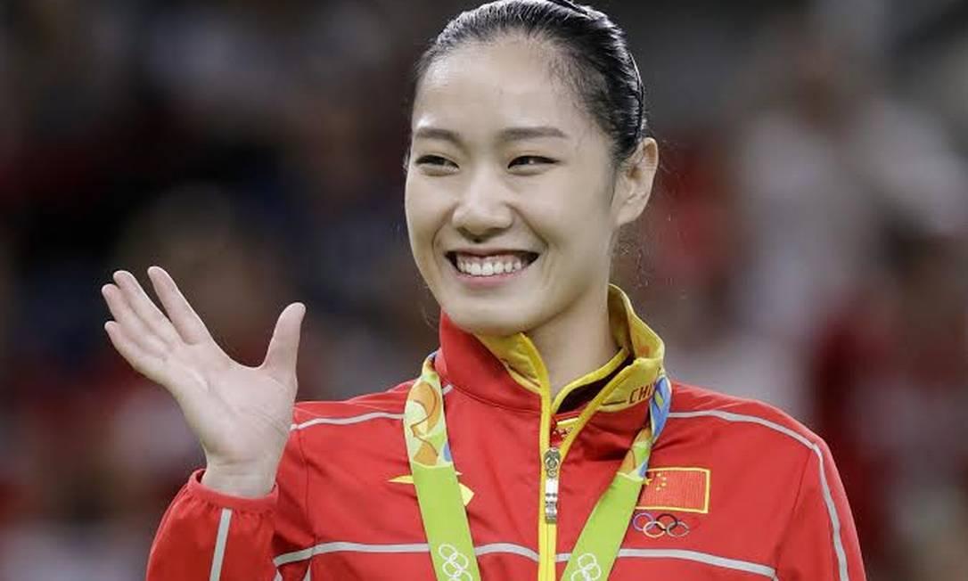 Li Dan, da China, fez sucesso na ginástica de trampolim AP