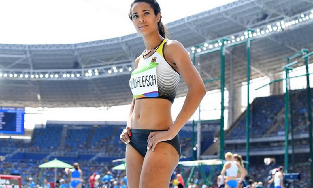 Marie-Laurence Jungfleisch, bela alemã do salto em altura Divulgação
