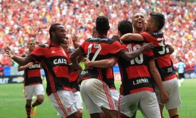 O Flamengo entrou no G-4 do Brasileiro Foto: Ailton de Freitas / Agência O Globo