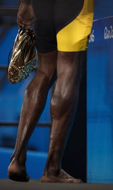 O jamaicano Usain Bolt e ouro nos 100m rasos masculino, no Engenhão Daniel Marenco / Agência O Globo