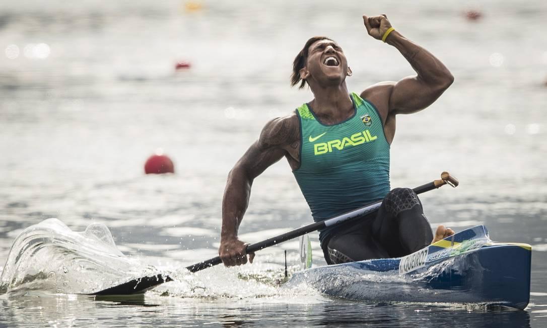 Isaquias Queiroz conquista medalha de prata na canoagem Guito Moreto / O Globo/NOPP