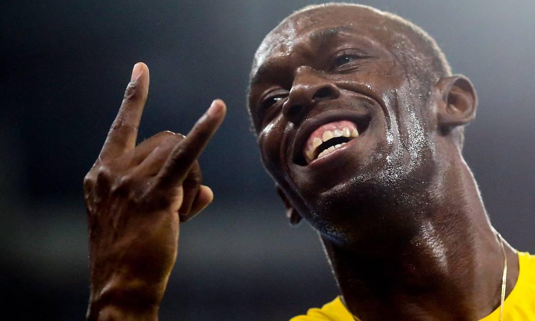 Usain Bolt ganha o 200 metros Pedro Kirilos / Agência O Globo