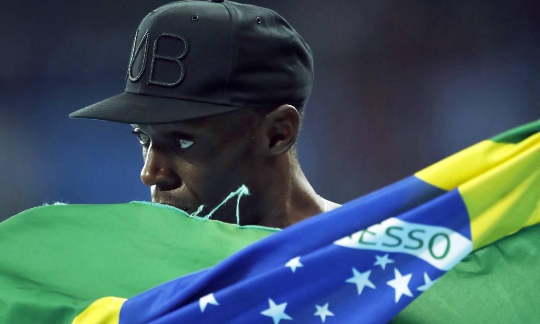 Final dos 4x100 metros rasos masculino. Medalha de ouro para a Jamaica. Usain Bolt Jorge William / Agência O Globo