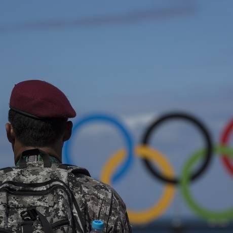 Força Nacional patrulhou as Arenas dos Jogos Foto: Daniel Marenco / Agência O Globo
