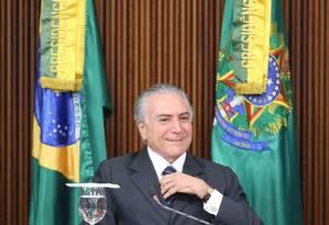 O oresidente interino, MIchel Temer Foto: André Coelho / Agência O Globo 18/08/2016