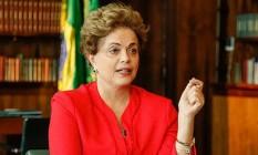 A presidente afastada, dilma Rousseff Foto: Divulgação