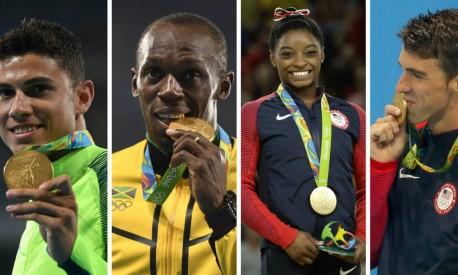 Thiago Braz, Usain Bolt, Simone Biles, Michael Phelps: nomes de destaque da Olimpíada do Rio Foto: Agências internacionais