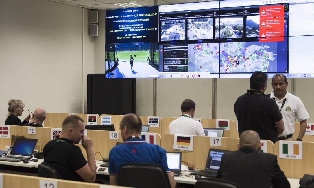 O CCPI, Centro de Cooperação Policial Internacional, criado para a Olimpiada Rio-2016 Foto: Leo Martins / Agência O Globo
