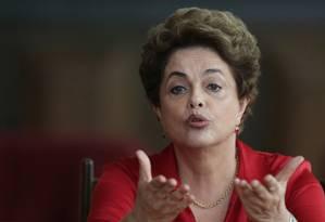 A presidente afastada Dilma Rousseff Foto: Eraldo Peres / AP
