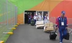 Delegação da China Taipei deixa a Vila Olímpica Foto: Gustavo Loio
