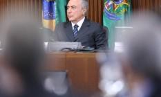 O presidente interino Michel Temer Foto: André Coelho / Agência O Globo