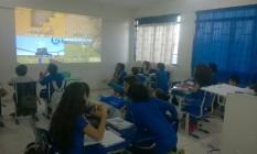 Craques no videogame, alunos criam cenários a partir de conteúdo das aulas de história Foto: Divulgação