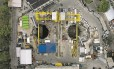 A obra da Estação Gávea, perto da PUC, vista do alto: intervenções não têm data para serem retomadas