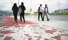 A ciclovia do Parque Olímpico: consórcio fará nova pintura Foto: Guilherme Leporace