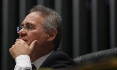 O presidente do Senado, Renan Calheiros Foto: André Coelho / Agência O Globo
