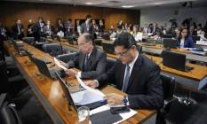 Os senadores tucanos Aloysio Nunes e Ricardo Ferraço Foto: Agência Senado