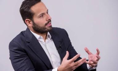O ministro da Cultura, Marcelo Calero, na redação de 'O Globo' Foto: Ana Paula Amorim