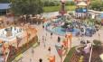 Praça da Elmo's World, área dedicada às crianças no parque Sesame Place