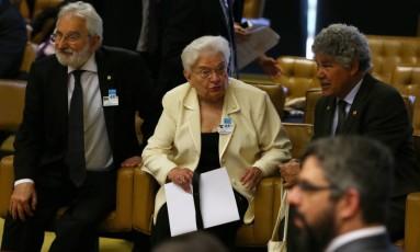 Deputados do PSOL acompanham o julgamento no STF Foto: Ailton de Freitas / Agência O Globo
