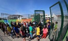 Movimentação de entrada no parque olímpico em 07/08/2016 Foto: Marcelo Theobald / Agência O Globo