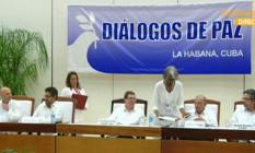 Líderes se reúnem para anunciar acordo de paz entre Colômbia e Farc Foto: Reprodução