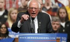 Bernie Sanders faz discurso em evento nos EUA Foto: AP