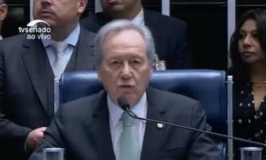 O presidente do STF Ricardo lewandowiski inicia julgamento do impeachment Foto: Reprodução