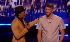 Michael Phelps durante a sua participação no programa 'America's Got Talent' Foto: Reprodução