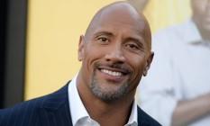 O ator Dwayne 'The Rock' Johnson no lançamento de seu mais recente filme, 'Um espião e meio' Foto: Richard Shotwell / AP