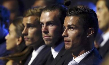 O Real Madrid de Cristiano Ronaldo e Gareth Bale enfrentará o Borussia Dortmund e o Sporting na primeira fase Foto: ERIC GAILLARD / REUTERS