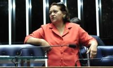 A senadora Fátima Bezerra (PT-RN) Foto: Geraldo Magela / Agência Senado