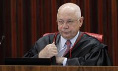 O ministro do Supremo Tribunal Federal (STF) Teori Zavascki, durante sessão no TSE. Foto: Givaldo Barbosa / Agência O Globo
