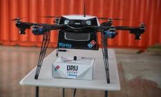 O drone de entregas da Domino's, que começará a ser testado na Nova Zelândia no fim deste ano Foto: Divulgação/Domino's