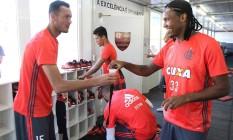 Réver e Rafael Vaz voltarão ao time titular do Flamengo Gilvan de Souza/Famengo Foto: Gilvan de Souza / Famengo