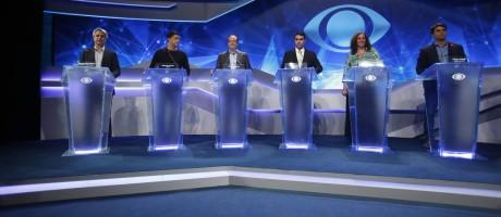 Debate com os canditados a prefeito do Rio no Teatro Oi Casa Grande, no Leblon Foto: Guilherme Leporace / Agência O Globo