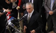 O presidente interino, Michel Temer Foto: Givaldo Barbosa / Agência O Globo 25/082016