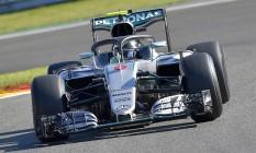 Alemão Nico Rosberg, da Mercedes, foi o mais rápido em Spa-Francorchamps Foto: LOIC VENANCE / AFP