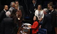 Sessão no Senado para análise e votação do Impeachment da presidente afastada Dilma Rousseff Foto: André Coelho / Agência O Globo